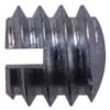Steel-oval White set screw